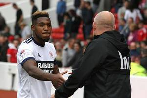 middlesbrough boss on whether britt assombalonga was affected by the atmosphere against nottingham forest