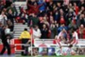 jese rodriguez sends stoke city fan head over heels with arsenal...