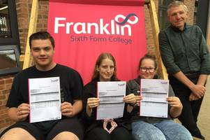 Full list of Grimsby's Franklin College A-level and BTEC results