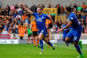wolves 1-2 cardiff city: nathaniel mendez-laing makes it five goals in five with winner against former club
