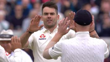 England v West Indies: Ruthless James Anderson removes Roston Chase for a duck
