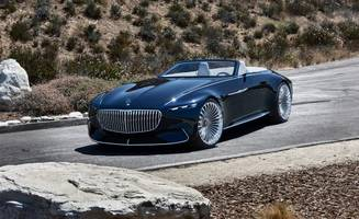 vision mercedes-maybach 6 cabriolet: open for gawking
