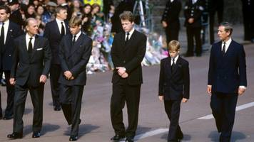 why did william and harry walk behind diana's coffin?