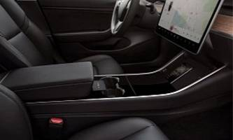 new tesla model 3 interior shots look yummy