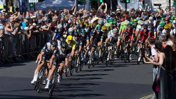 Tour of Britain race in Mansfield where cyclists banned