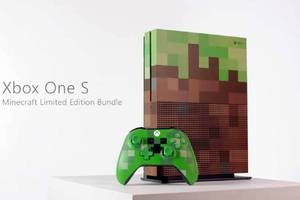 Microsoft's custom Minecraft Xbox One looks like it came out of the game