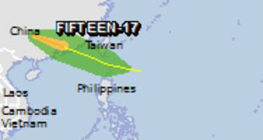 Green alert for tropical cyclone FIFTEEN-17. Population affected by Category 1 (120 km/h) wind speeds or higher is 0.
