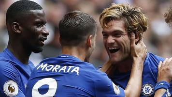alonso double earns chelsea wembley win against tottenham
