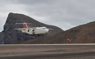 a test flight to st helena's airport finally takes off tomorrow