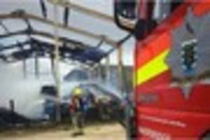 barn destroyed at st erval after baler fire spreads to nearby...