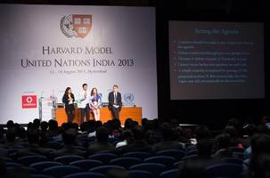 vodafone partners with harvard model united nations india for students to #besuper