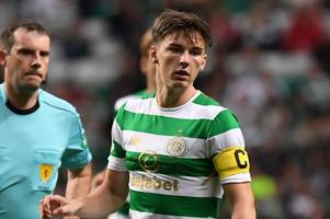 celtic ace kieran tierney will soon be playing in england says charlie adam as he reveals stoke were put off by £20m price tag