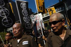 Thousands Protest in Hong Kong Over Jailing of Democracy Activists