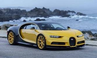 first bugatti chiron delivered to u.s. owner has black&yellow color scheme