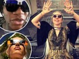 Celebrities share excitement for eclipse on social media