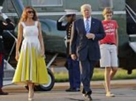 Trump and the First Family return to Washington DC