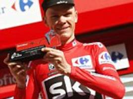 chris froome takes vuelta a espana lead on stage three