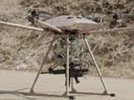 Florida startup reveals drone with a built in machine gun