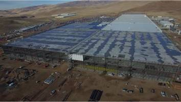 new drone footage shows just how huge tesla's gigafactory really is