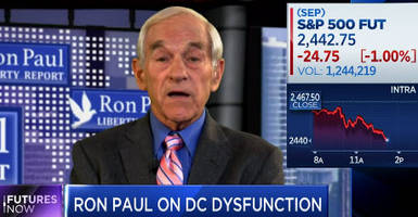 ron paul warns 50% stock market plunge conceivable... and it won't be trump's fault