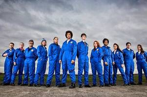 why were 'astronauts' flying above gloucestershire?