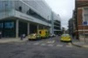 Large number of emergency vehicles outside Croydon Council...