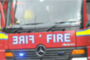 five fire engines battled barn fire in south godstone