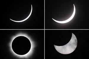 Britain prepares for today's partial solar eclipse - but parts of USA will be plunged into darkness