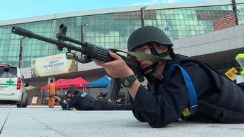 South Korean forces simulate terror attack