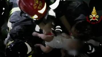 Baby rescued from Italian earthquake