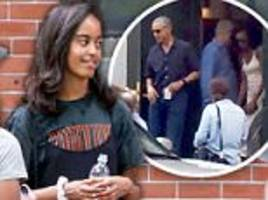 Emotional Barack and Michelle Obama move Malia to Harvard