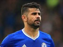 chelsea's diego costa calls removal men to his surrey home