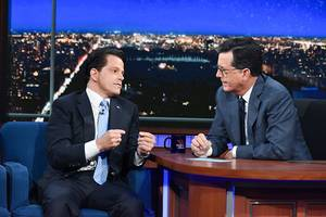 Anthony Scaramucci Visit Leads Colbert to His Second-Biggest Weekly Win Over Fallon