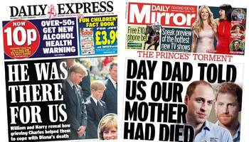 the papers: princes speak out about diana's death