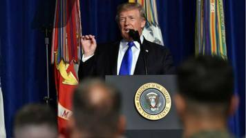 trump unveils new, dramatic afghanistan strategy: we aren't nation-building again, we are killing terrorists