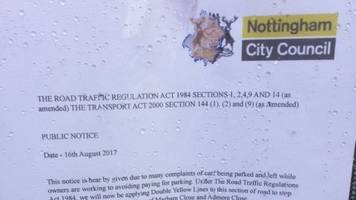 'fake' parking letters threaten nottingham drivers with fines