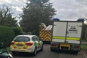 man seriously injured after bomb squad called to incident in leicestershire village