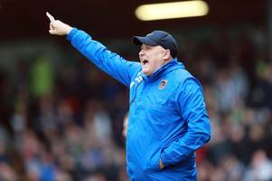 grimsby town boss russell slade looking for reaction from players in carabao cup clash with derby county