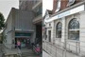 Barclays announces that these two bank branches in Croydon will...