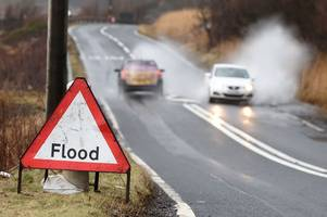 Flood warning issued as Scotland prepares to be battered by torrential rain and thundery downpours overnight