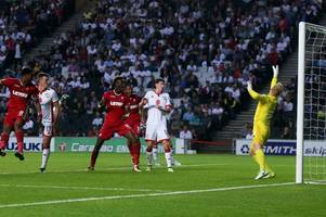 the swansea city player ratings as leroy fer and jordan ayew stand out in emphatic victory over mk dons in carabaro cup