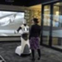 air new zealand unveils social robot helper for sydney airport check-in