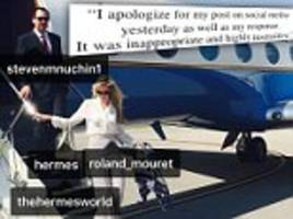 louise linton offers curt apology for instagram argument