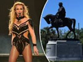 replace confederate statues with britney spears ones
