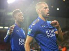 leicester boss: slimani and gray could face man utd