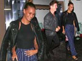 april love geary and robin thicke enjoy date night in la