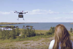 Hamburgers and beer are about to start flying through the skies of Reykjavík, Iceland