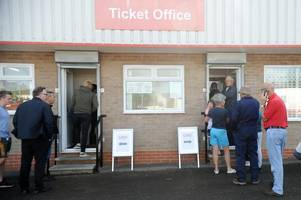 Traffic builds as West Ham fans come to town for Cheltenham Town clash