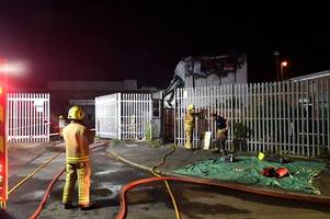 fire at ramsdens storage building in grimsby being treated as suspected arson