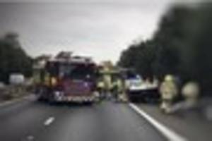 live updates as the m26 is closed after a 'serious collision'